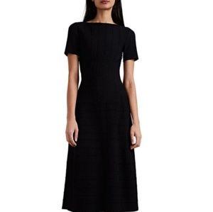 ALAÏA  Wavy-Striped Compact Knit Dress